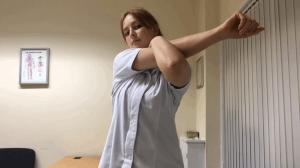 Cross body stretch exercises