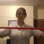 Strengthening: muscles between the shoulder blades