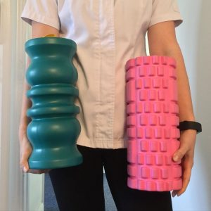 Manta and traditional foam rollers